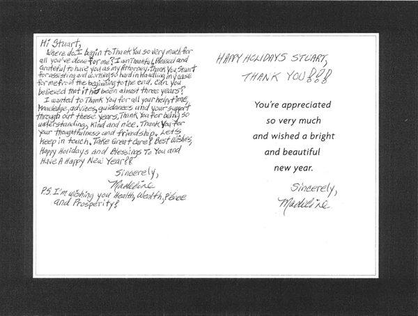 Holiday card testimonial