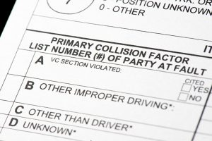 Traffic collision report